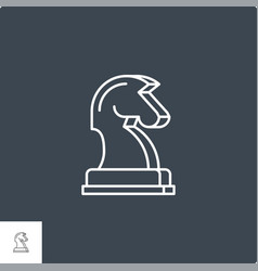 horse chess related line icon vector image