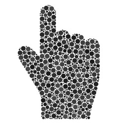 Index finger composition of dots vector