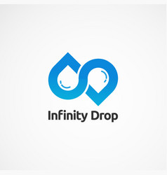 Infinity drop logo simple logo icon element and vector