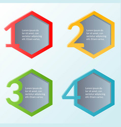 Infographic template of four steps or workflow vector