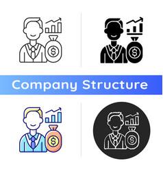 investor icon vector image