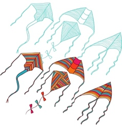 Kites for your design Hand drawn vector