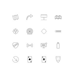 lifestyle linear thin icons set outlined simple vector image