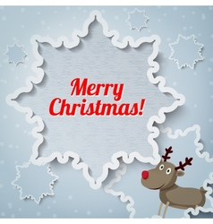 Merry Christmas greeting card with place for your vector image