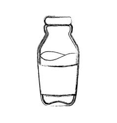 Milk glass bottle vector