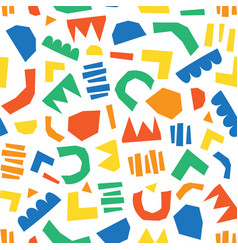 modern abstract kids paper cut out shapes vector image