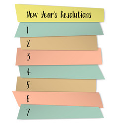 New year resolutions self improvement template vector