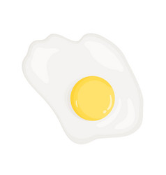 Omelette fried egg healthy vector