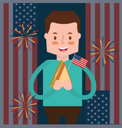 People american independence day vector
