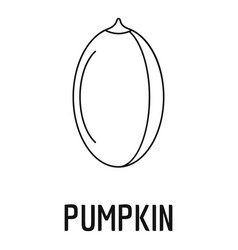 pumpkin seed icon outline style vector image