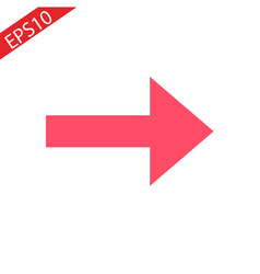 Red arrow icon flat design style vector