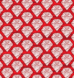 red cartoon diamond background vector image