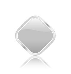 Rhomb icon silver vector