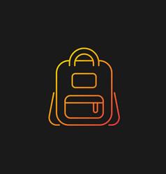 Schoolbag gradient icon for dark theme vector