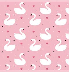 seamless swan pattern vector image
