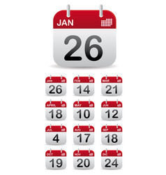 set calendar stand up vector image
