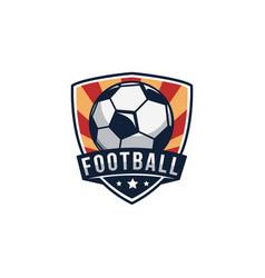 Shield emblem badge seal football soccer logo vector