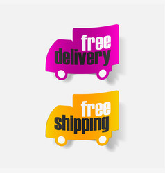 Shipping fast delivery truck with clock icon vector