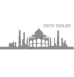 skyline of new delhi vector image