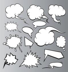 Speech bubbles backgrounds vector