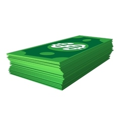 Stack of dollars cartoon icon vector image