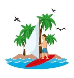 Surfing Extreme sport athlete avatar vector