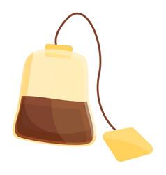 Tea bag icon cartoon style vector