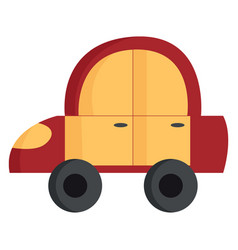 the red and yellow toy car or color vector image