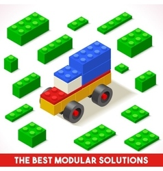 Toy Block Car Games Isometric vector image