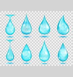 transparent light blue drops vector image