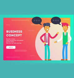 two businessmen communicate vector image
