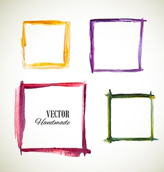 watercolor set frame vector image
