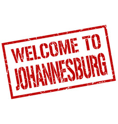 Welcome to johannesburg stamp vector