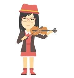 Woman playing violin vector