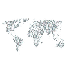 Worldwide atlas collage of break chain link icons vector