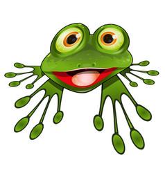 Cheerful green frog vector