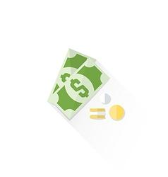 Color cash money dollar sign icon vector