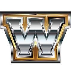 Fancy font Letter W vector image vector image