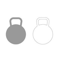 kettlebell the grey set icon vector image