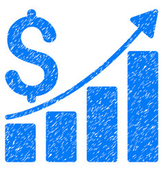 sales growth chart grunge icon vector image vector image