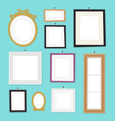vintage cartoon photo picture frame template vector image