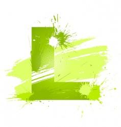 font letter l vector image