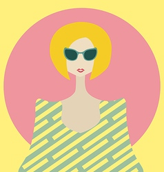 Stylish young woman with bob hairstyle vector image