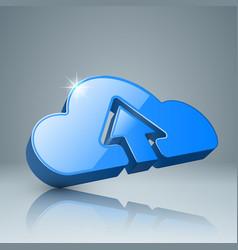 download cloud arrows icon vector image