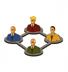 networking vector image vector image