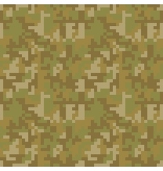 Pixel camo seamless pattern brown desert or vector