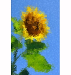 Sunflower decorative vector image