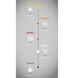 Timeline infographic business template vector image vector image