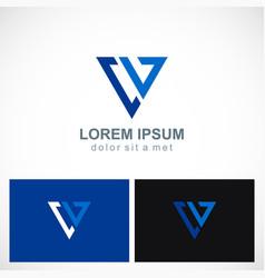 triangle line geometry company logo vector image