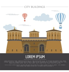 City buildings graphic template Luxembourg vector image